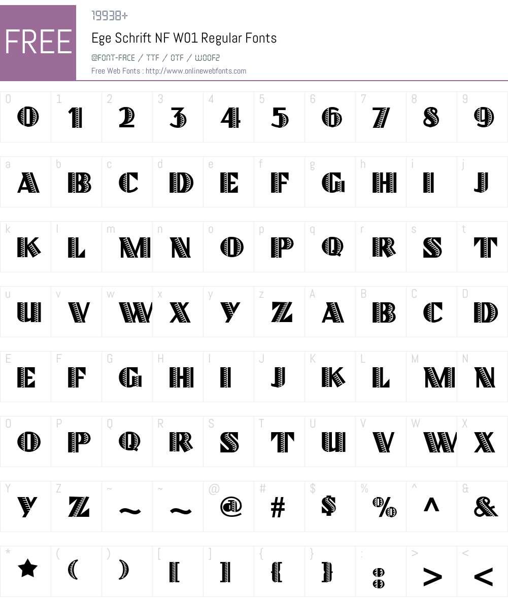 EgeSchriftNFW01-Regular Font Screenshots