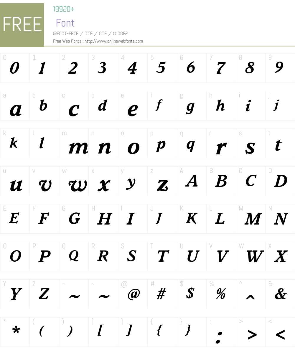 Parkinson Font Screenshots