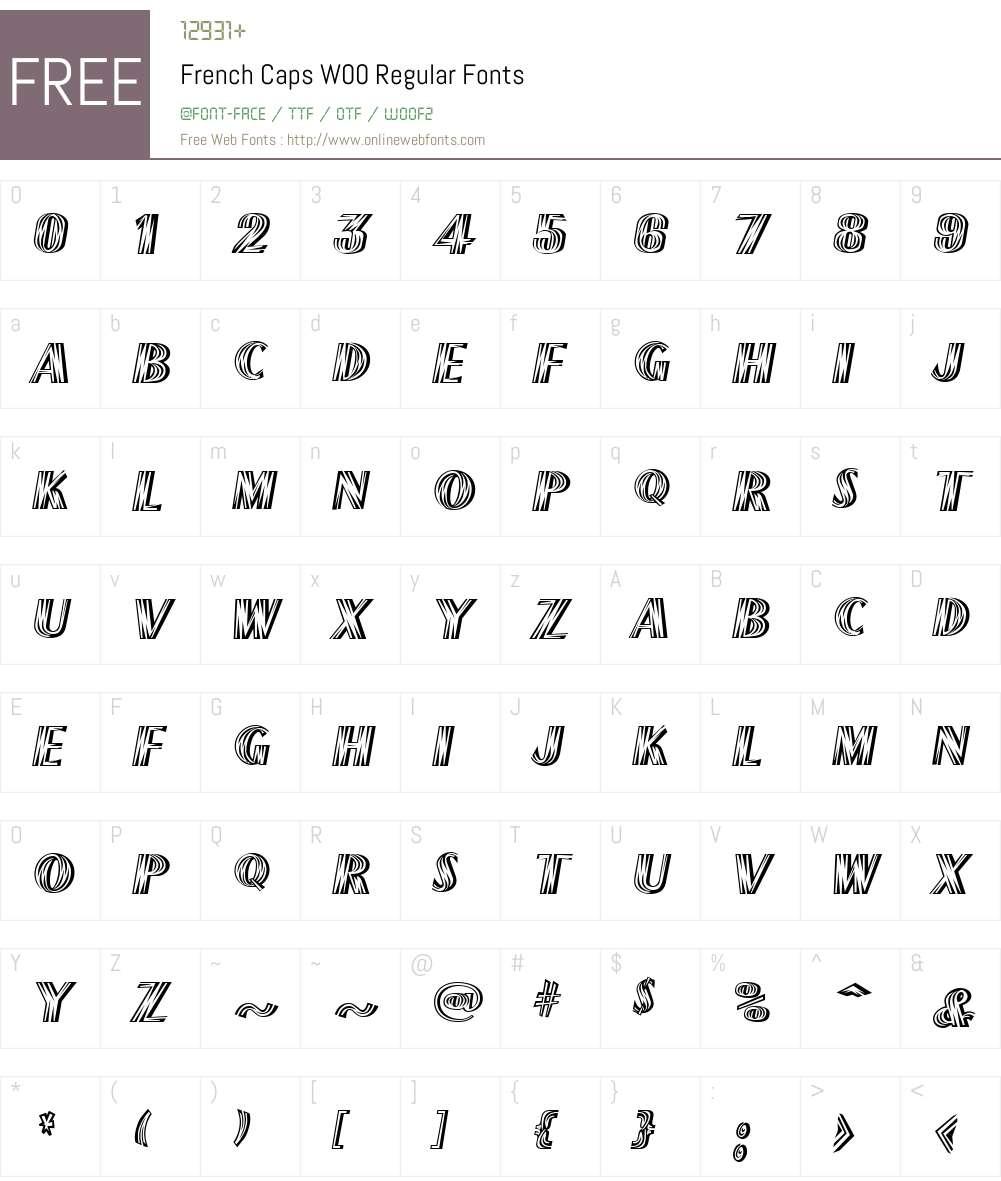 FrenchCapsW00-Regular Font Screenshots