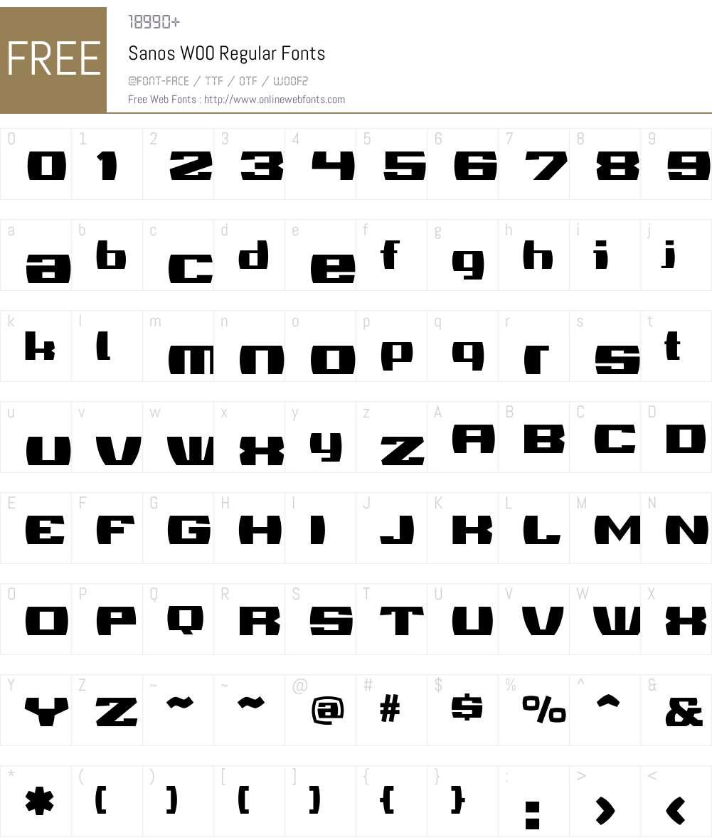 Sanos Font Screenshots