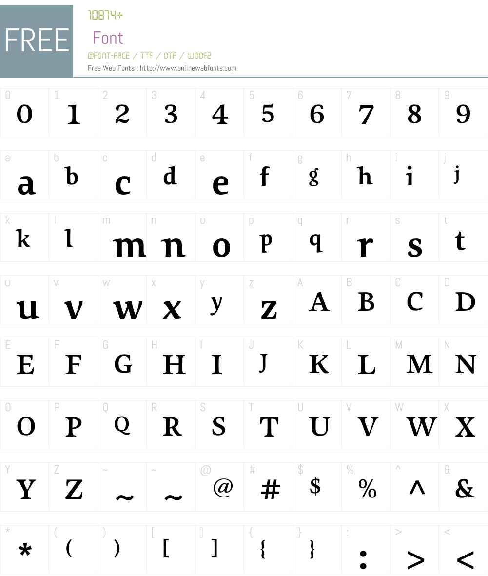 Sovereign-Bold Font Screenshots