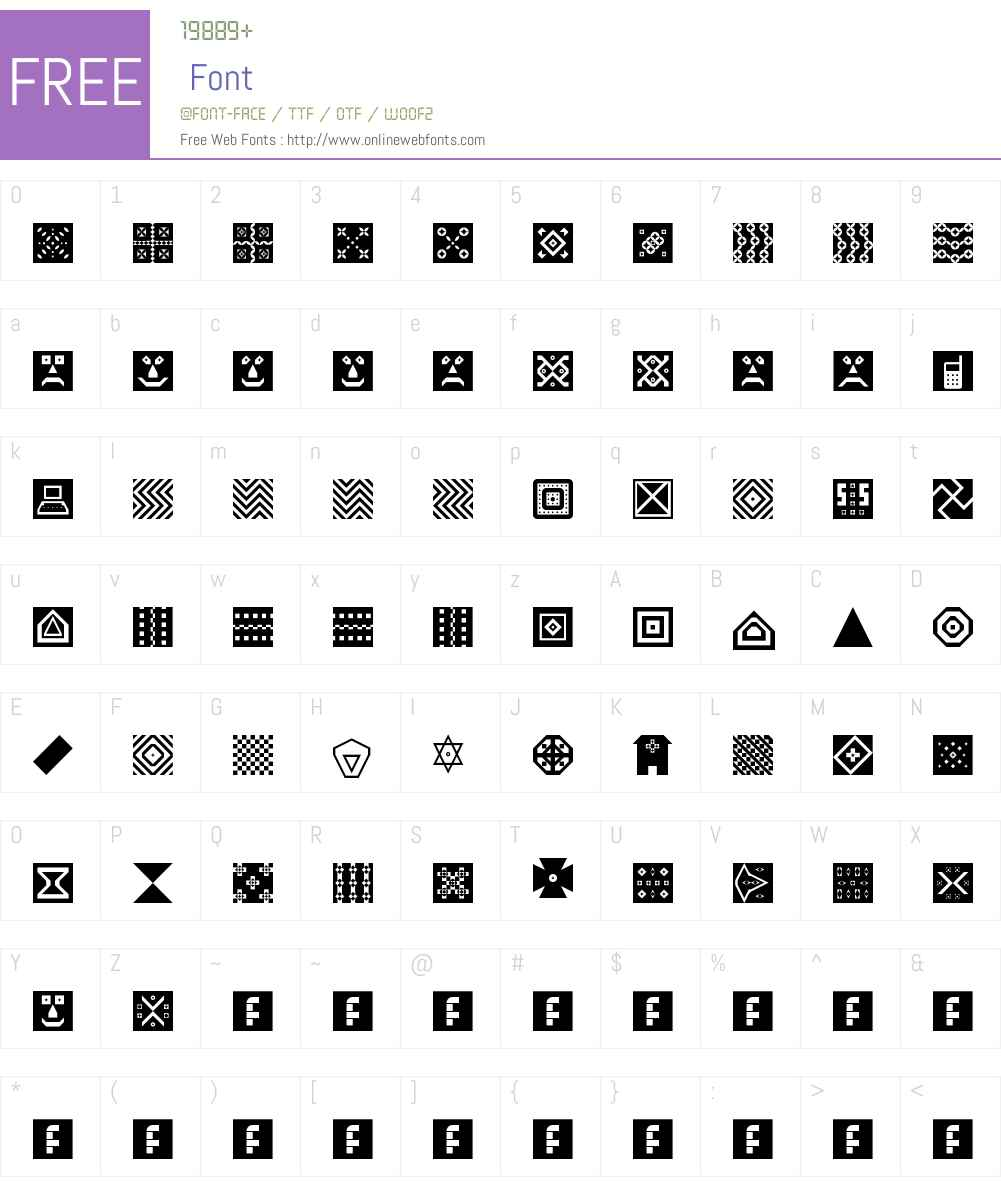 Shapes Font Screenshots
