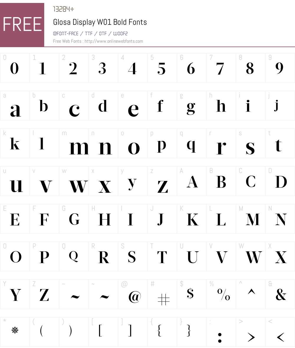 GlosaDisplayW01-Bold Font Screenshots