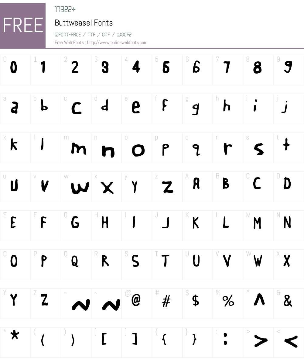 Buttweasel Font Screenshots