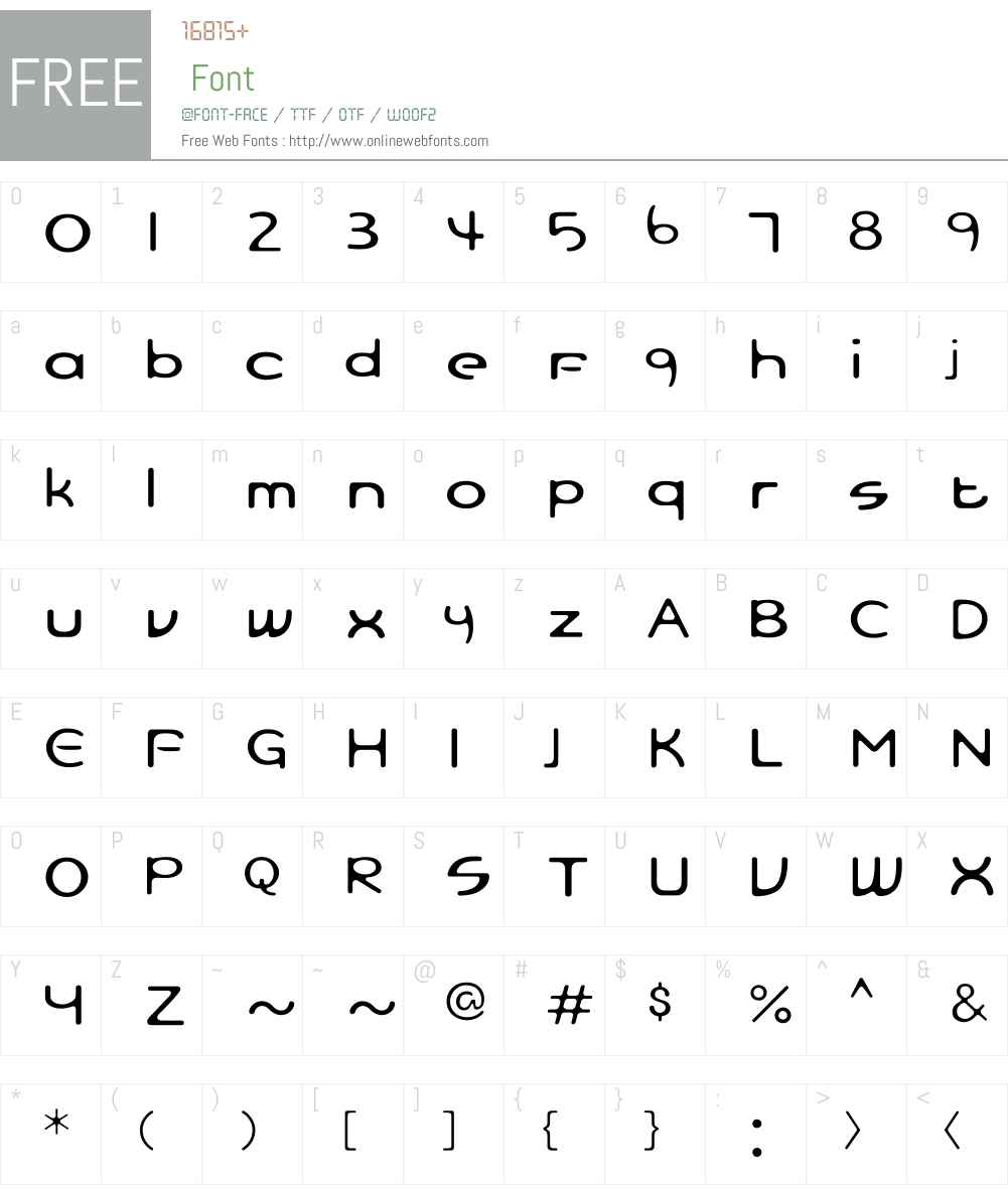 FBSkyBlueLW34-Regular Font Screenshots