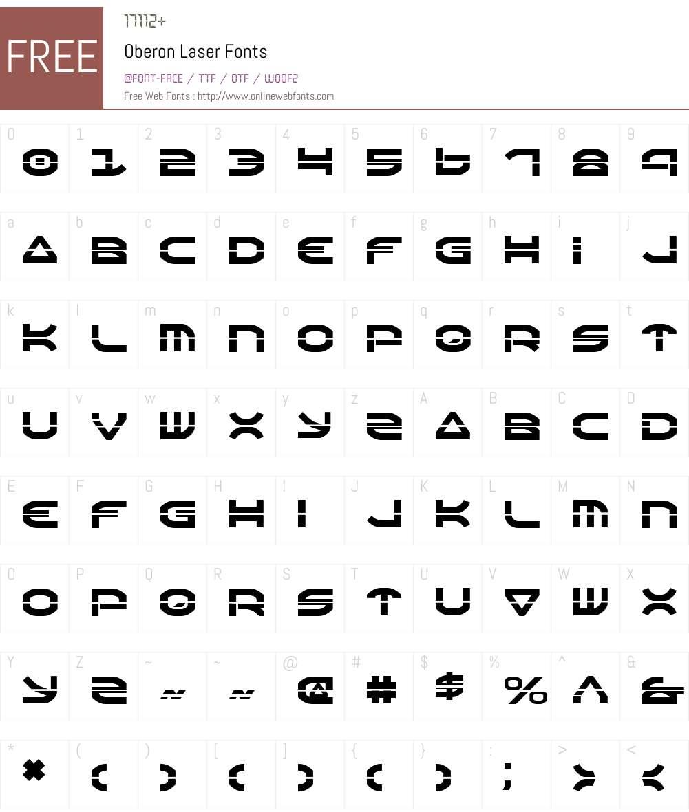 Oberon Laser Font Screenshots