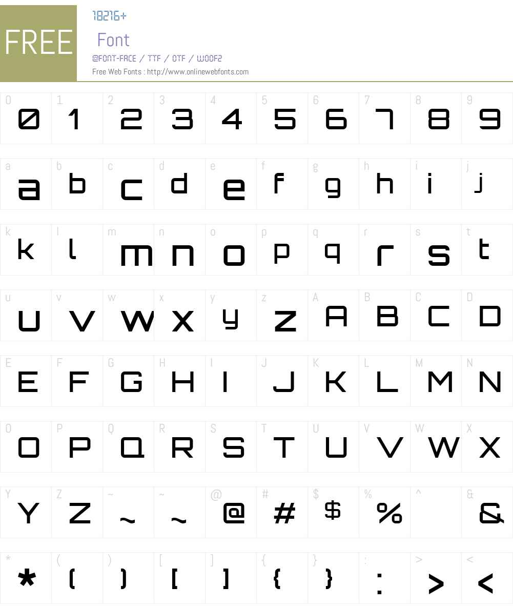 Orbitron Font Screenshots