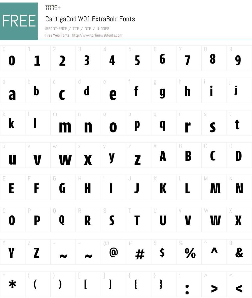 CantigaCndW01-ExtraBold Font Screenshots