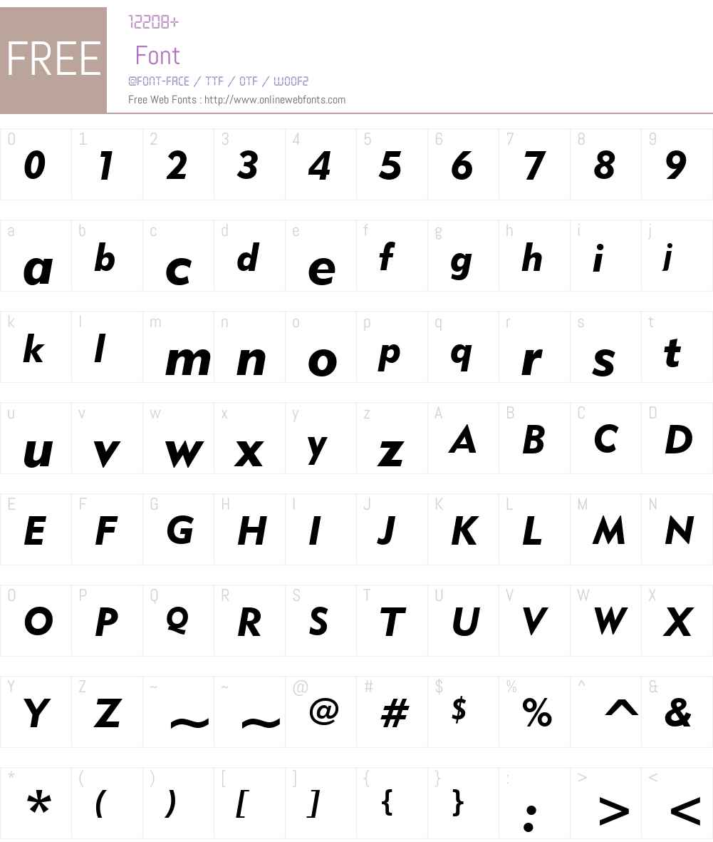 Geometr415 Blk BT Font Screenshots