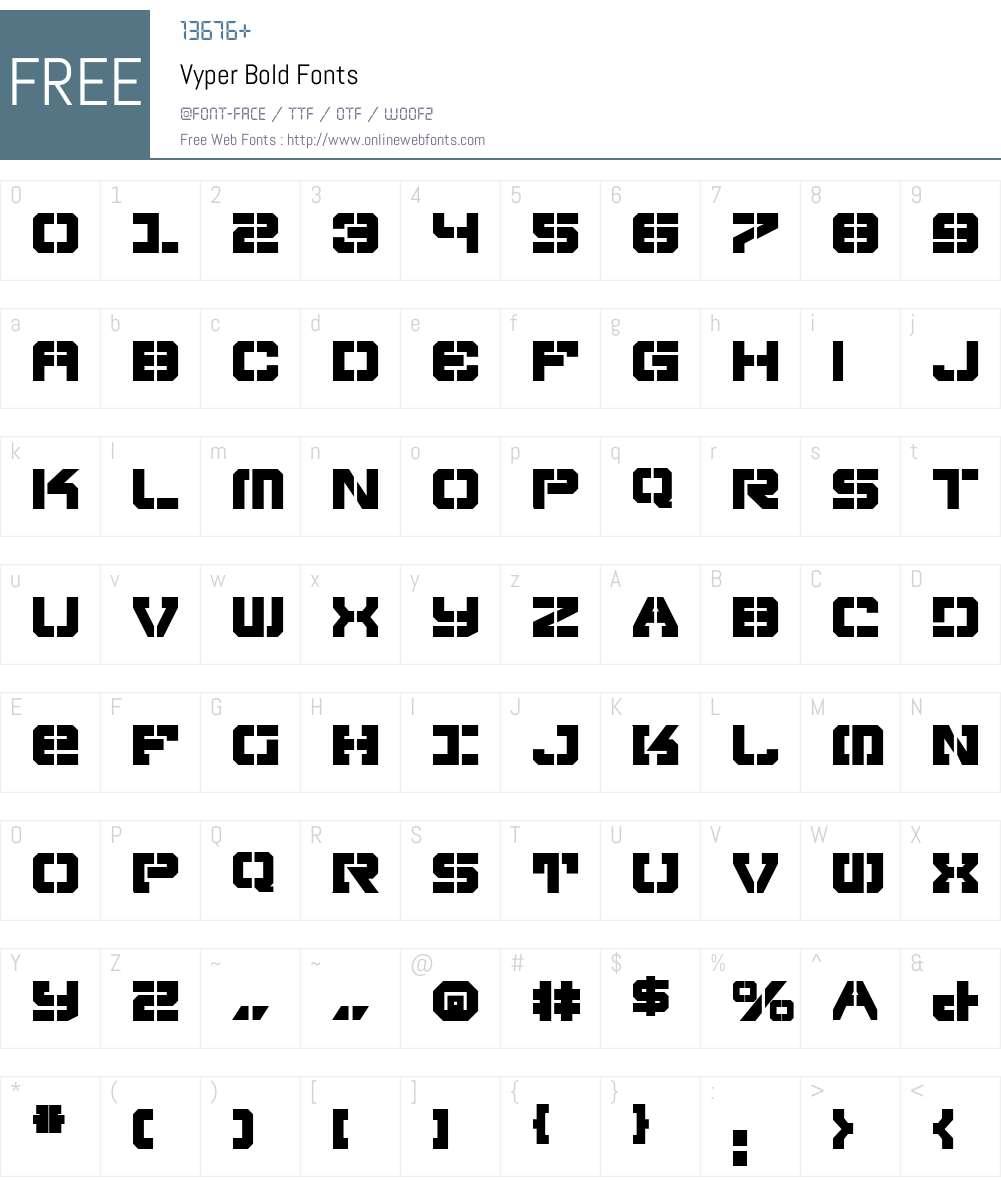 Vyper Bold Font Screenshots
