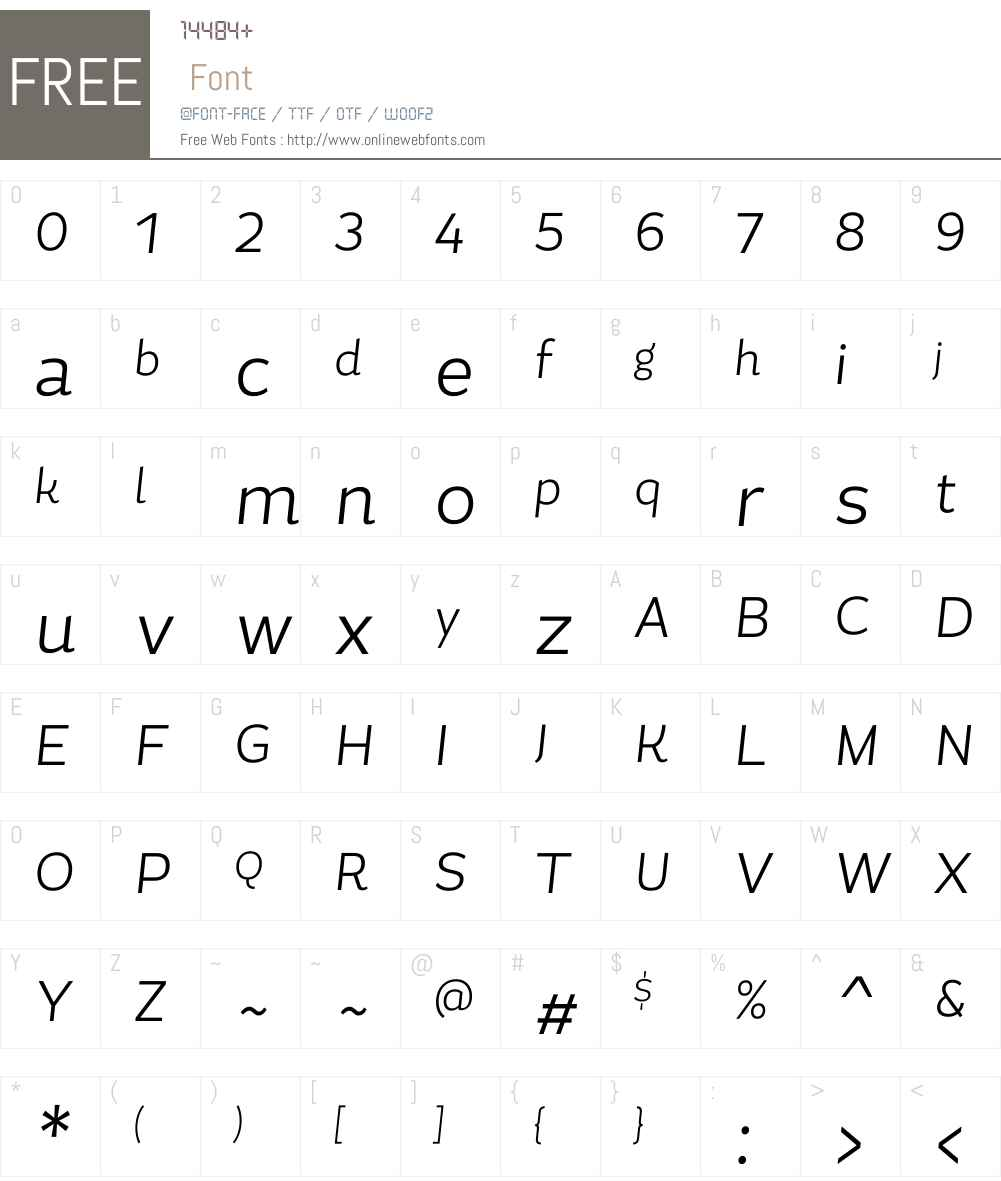MagallanesCondW00-LightIt Font Screenshots