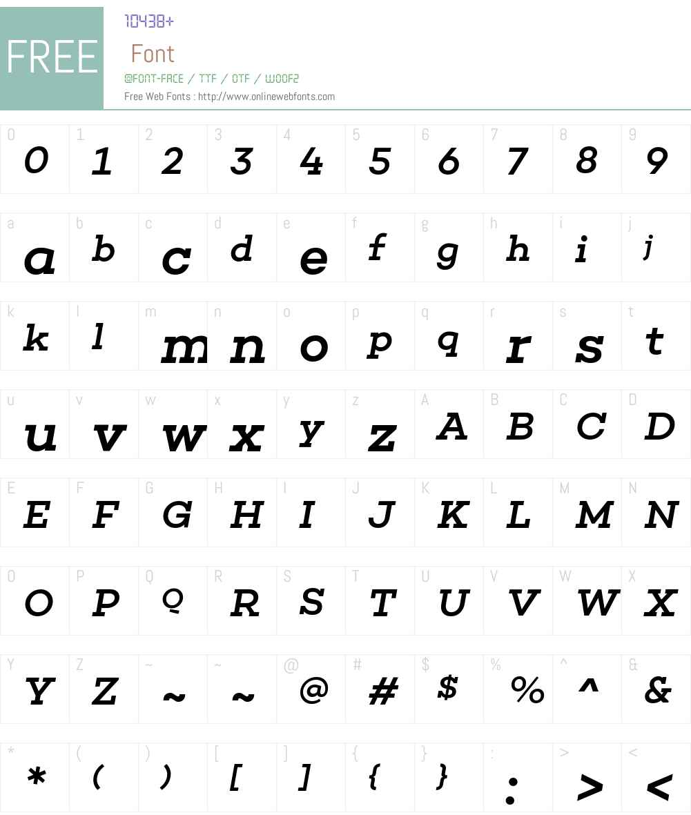 Choplin Medium Font Screenshots