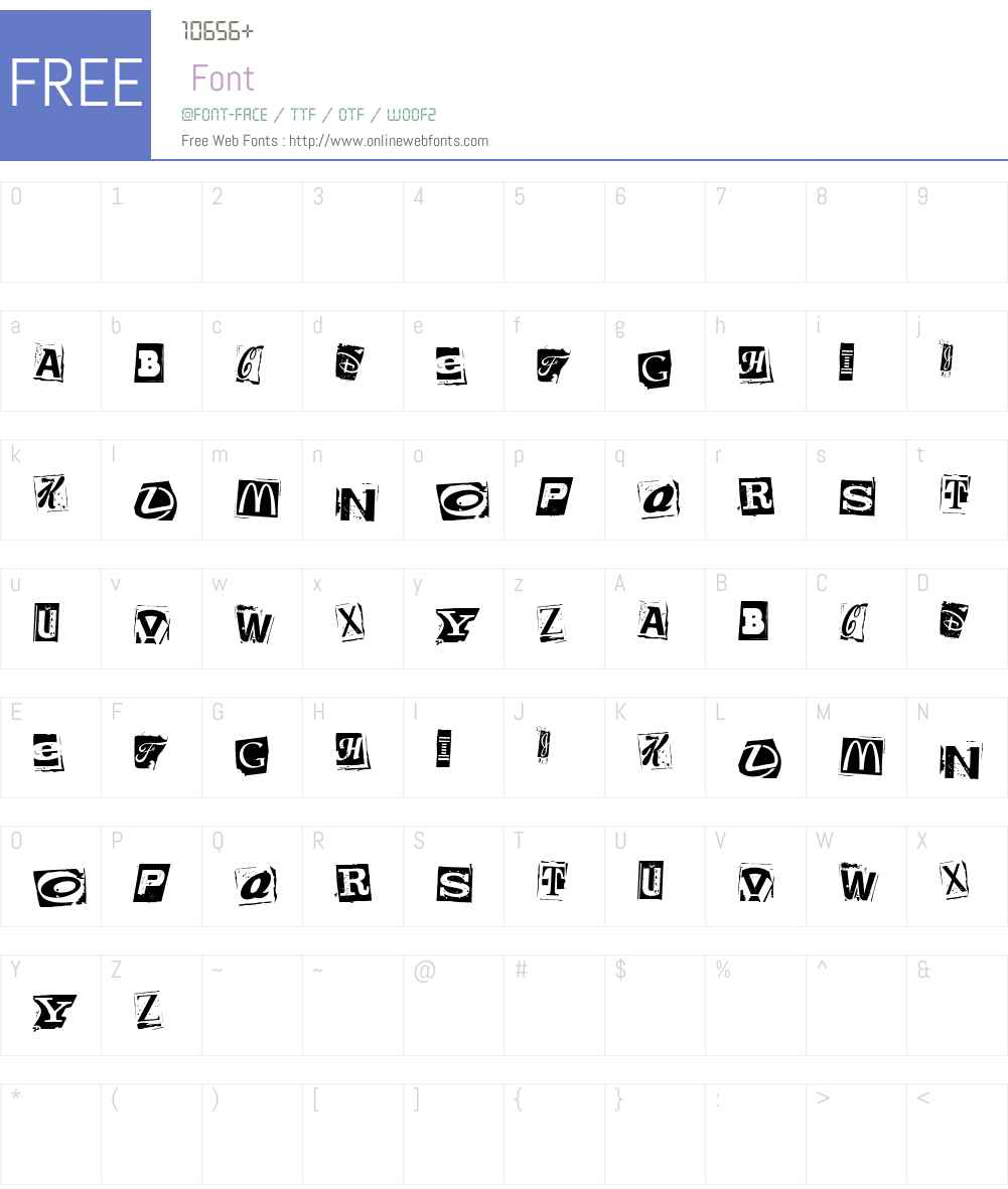 Brands Kidnapped Font Screenshots