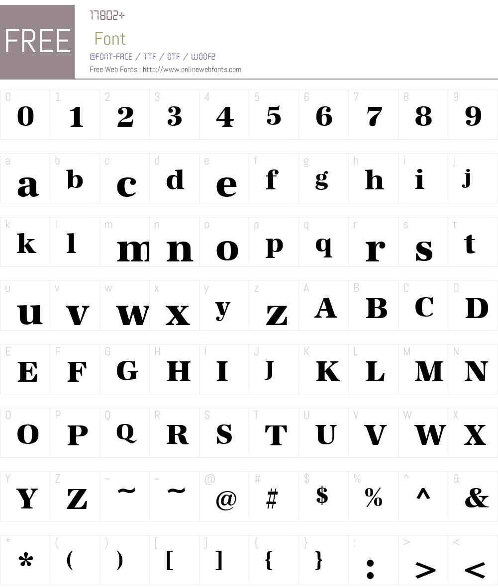 AntiquaStd-Xbold Font Screenshots