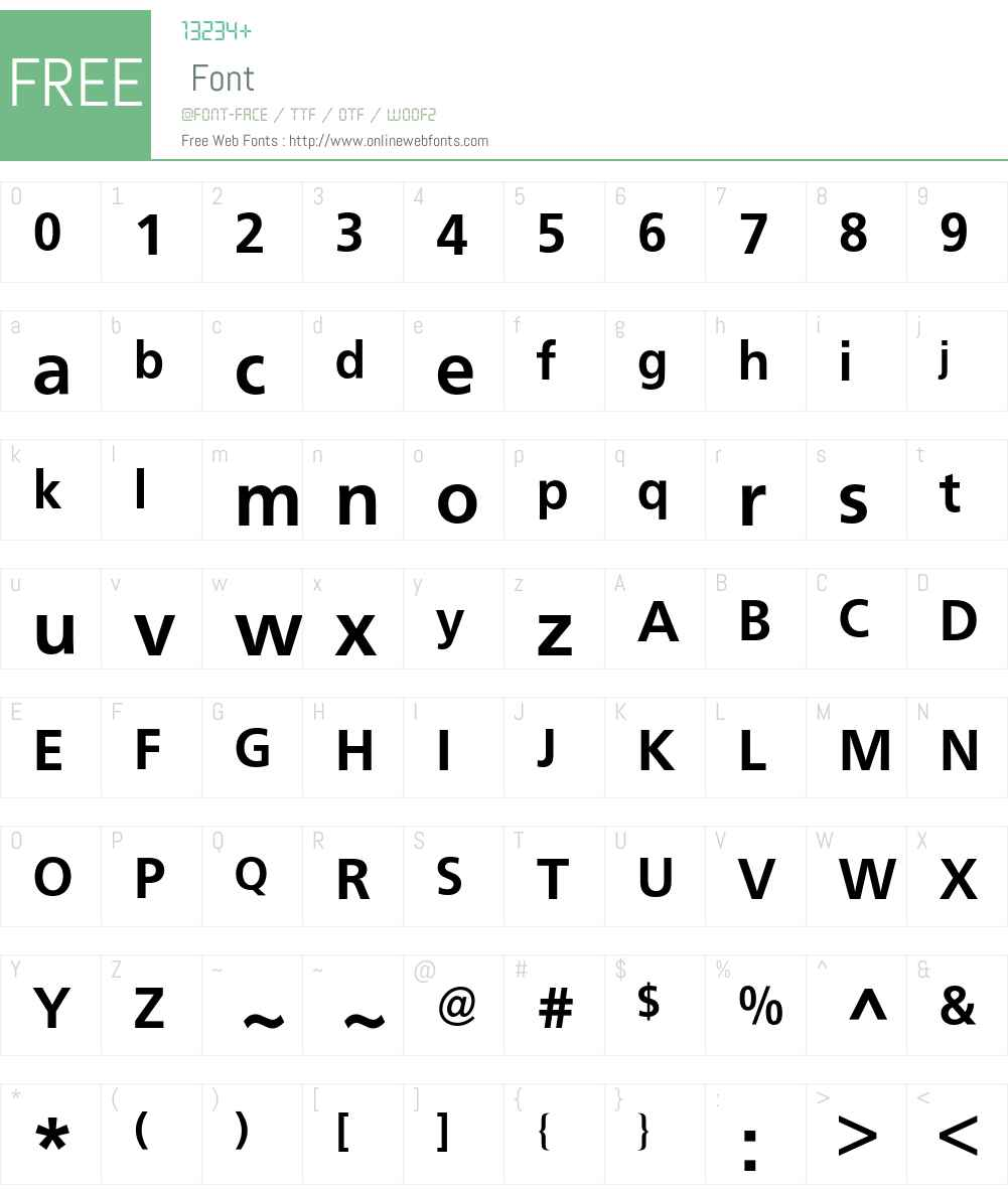Frutiger BQ Font Screenshots