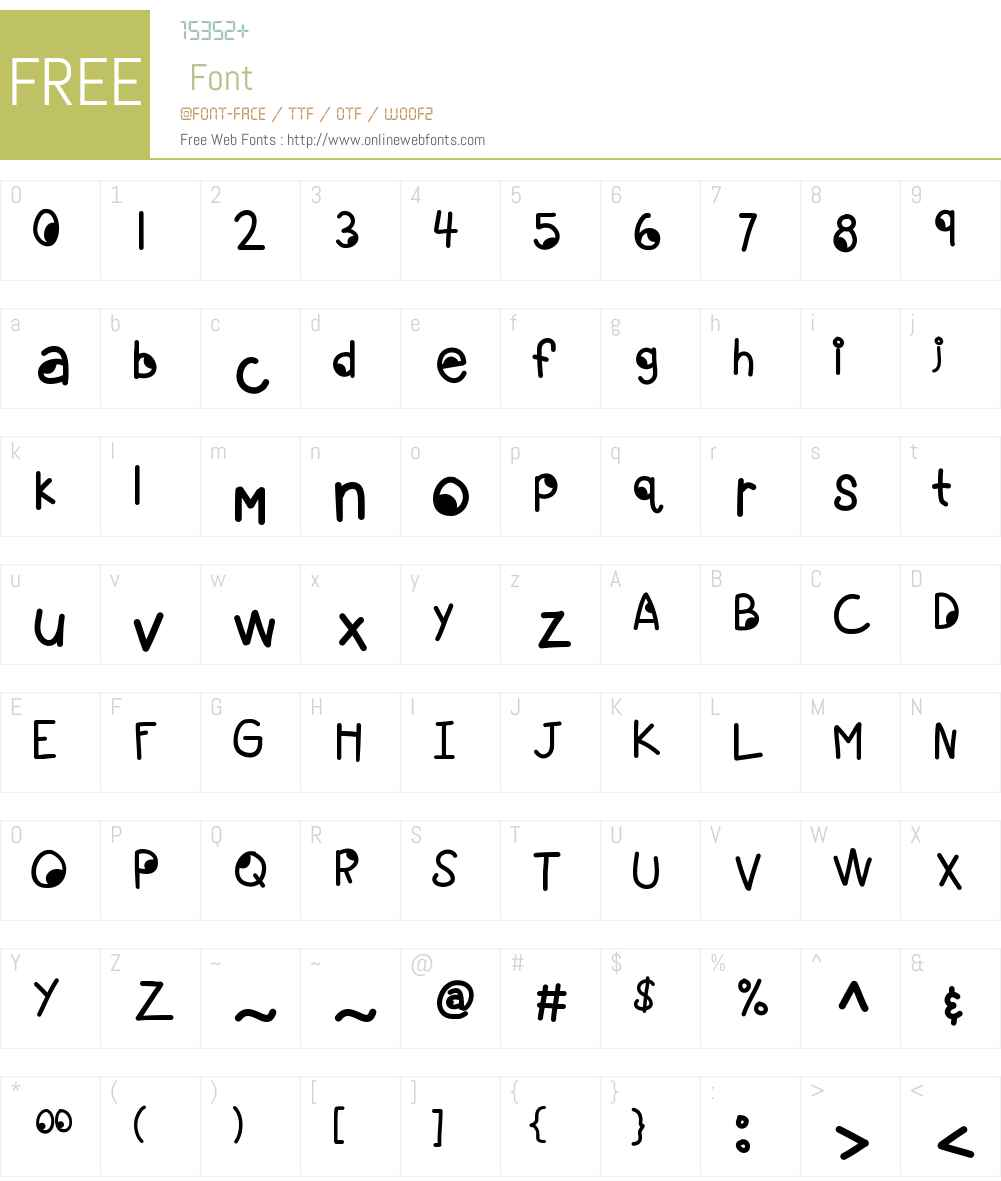 KBGoogleyEyes Font Screenshots