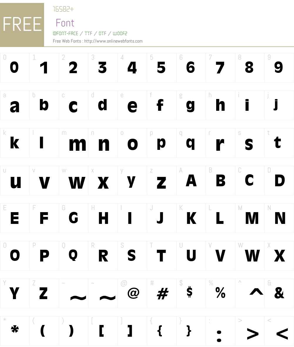 Incised 901 Font Screenshots