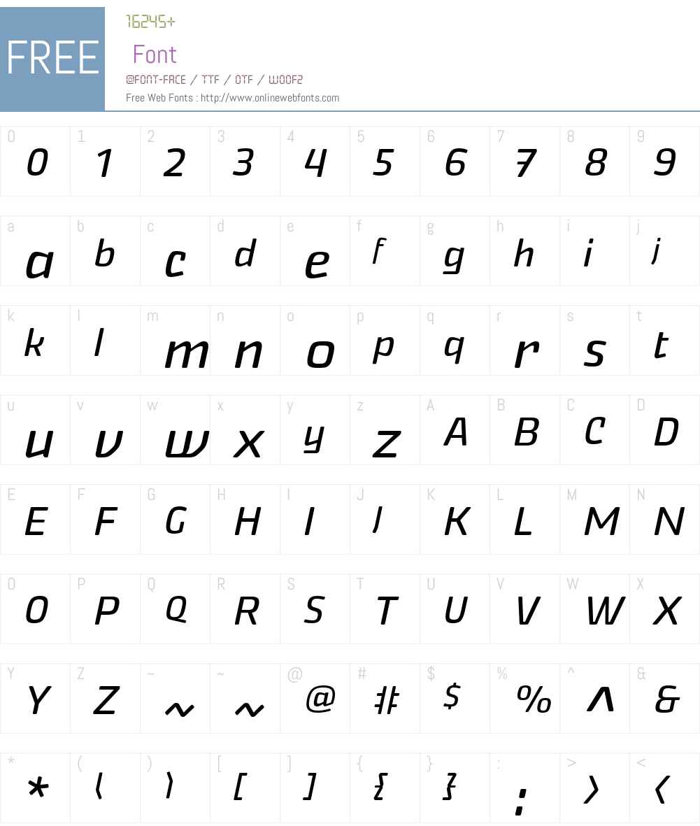 Nikaia Font Screenshots