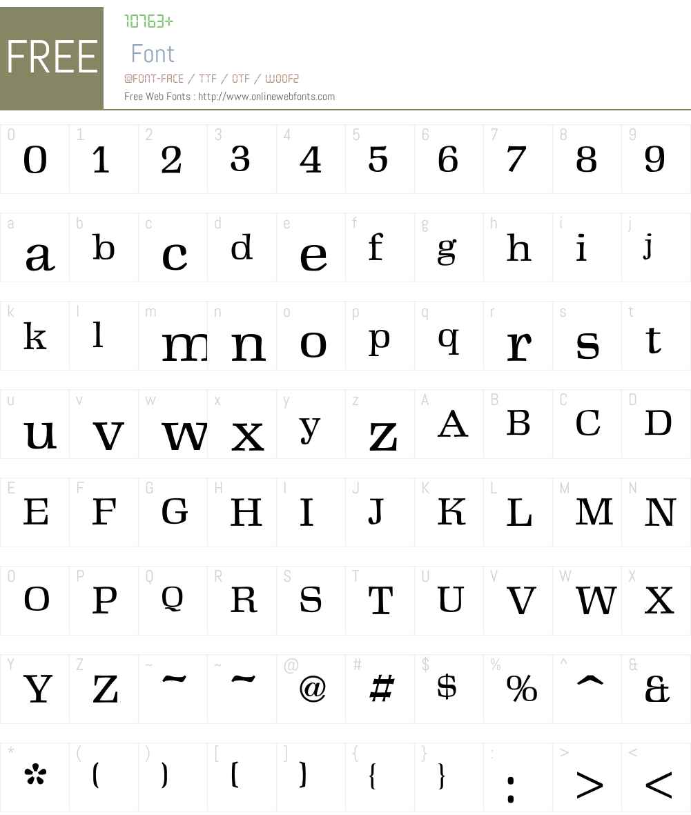 Antikva Font Screenshots