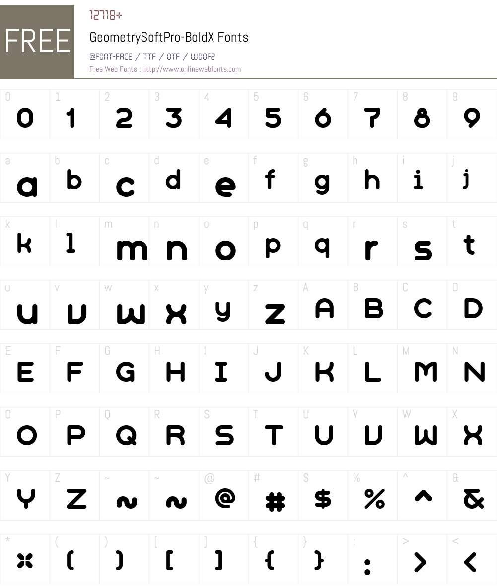 GeometrySoftPro-BoldX Font Screenshots