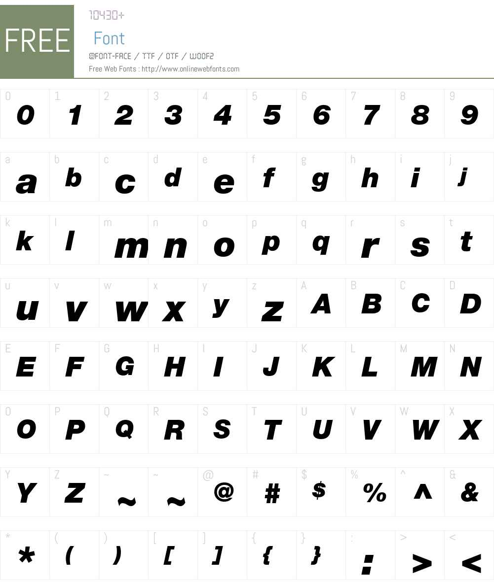 Helvetica Neue LT Com Font Screenshots