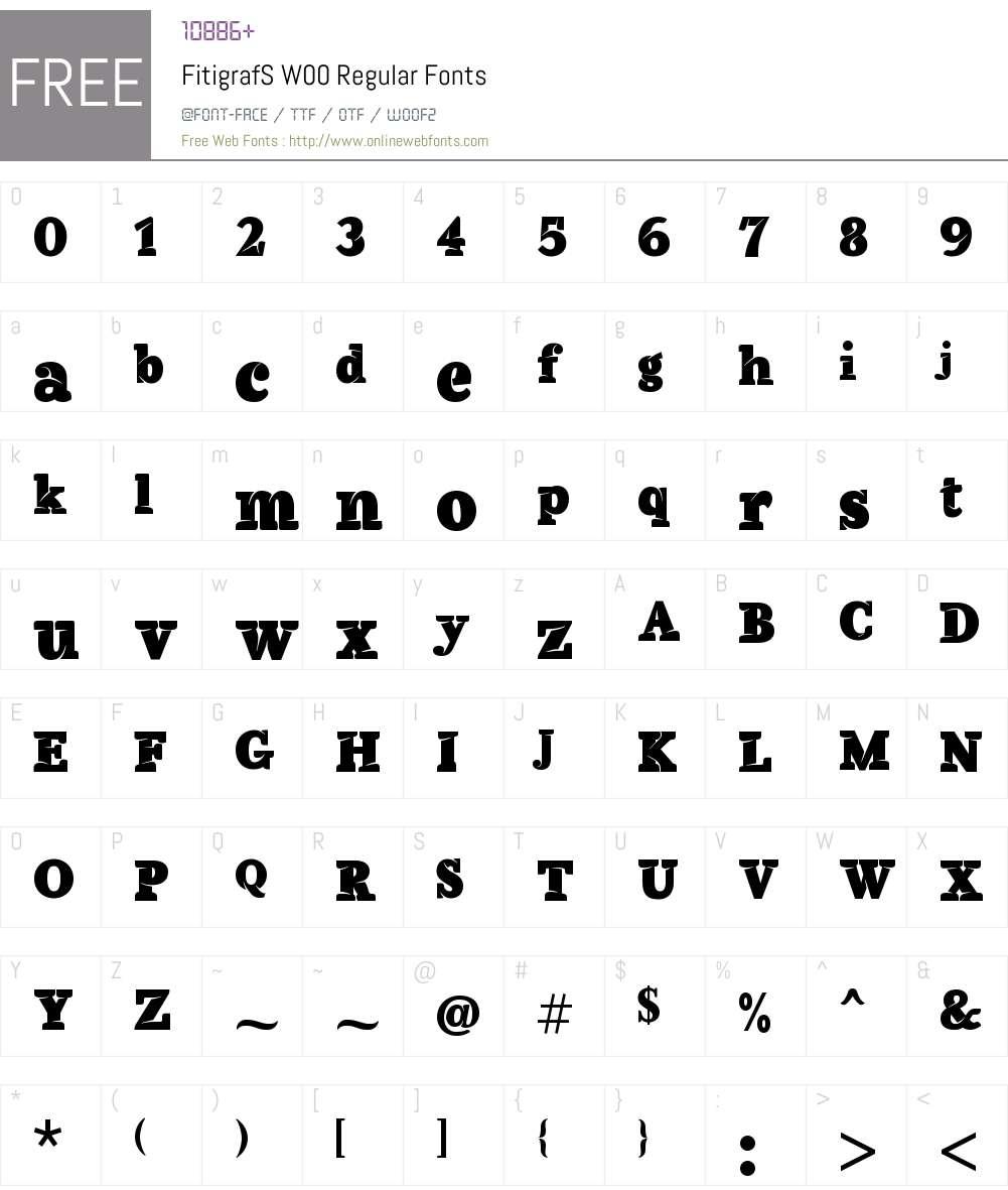 FitigrafSW00-Regular Font Screenshots
