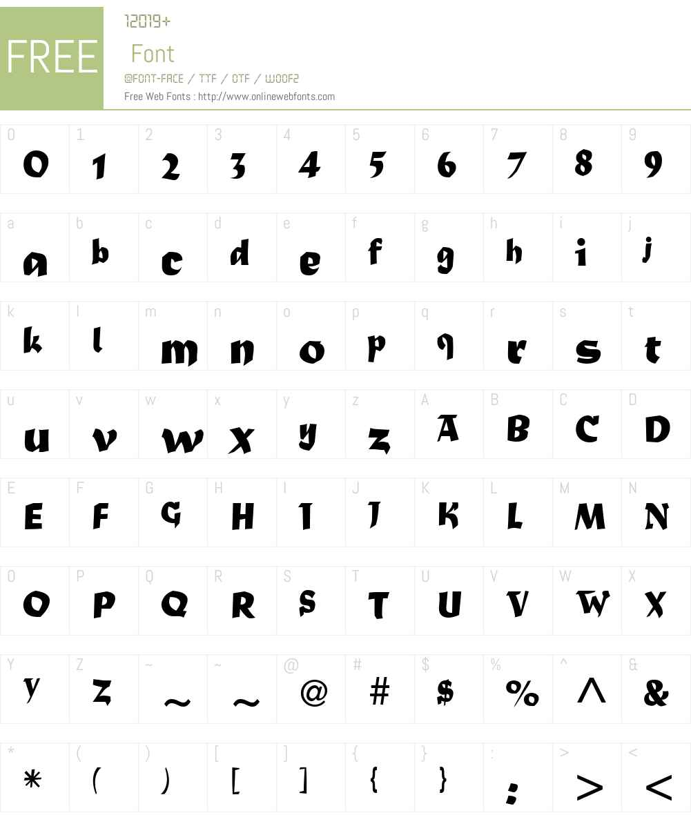 MaturaW01 Font Screenshots