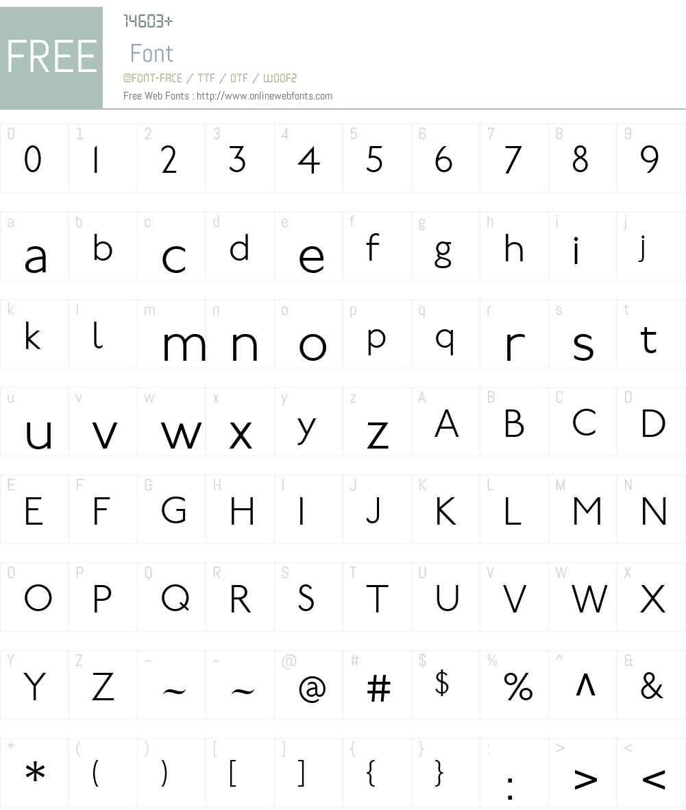 P22UndergroundW01-Light Font Screenshots