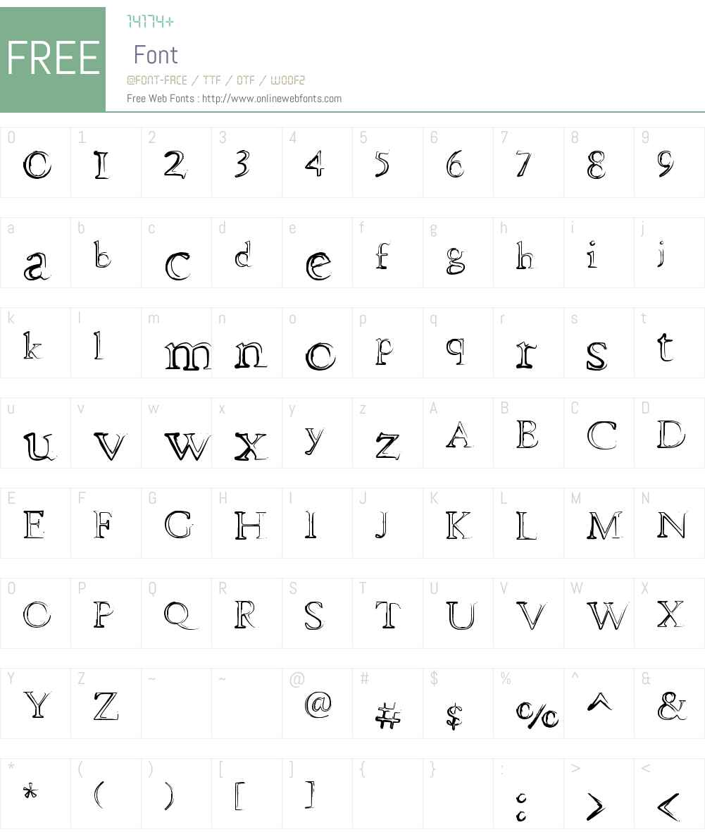 dhe mysterious Font Screenshots