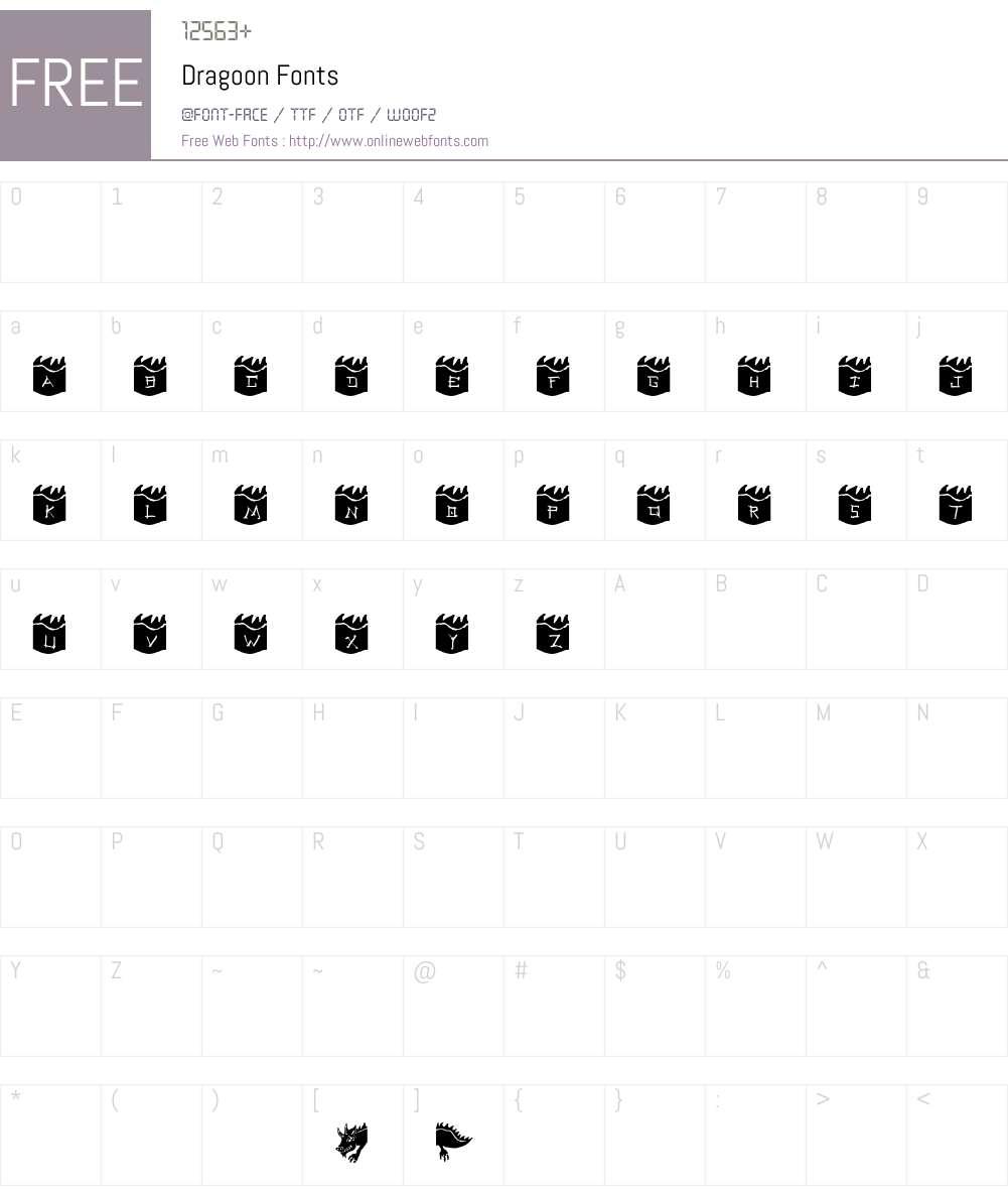 Dragoon Font Screenshots