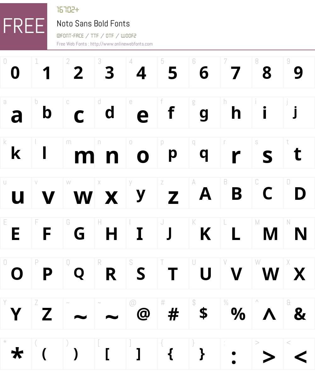 Noto Sans Font Screenshots