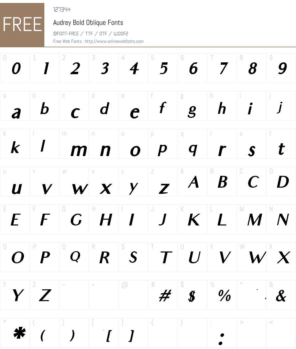 Audrey Font Screenshots