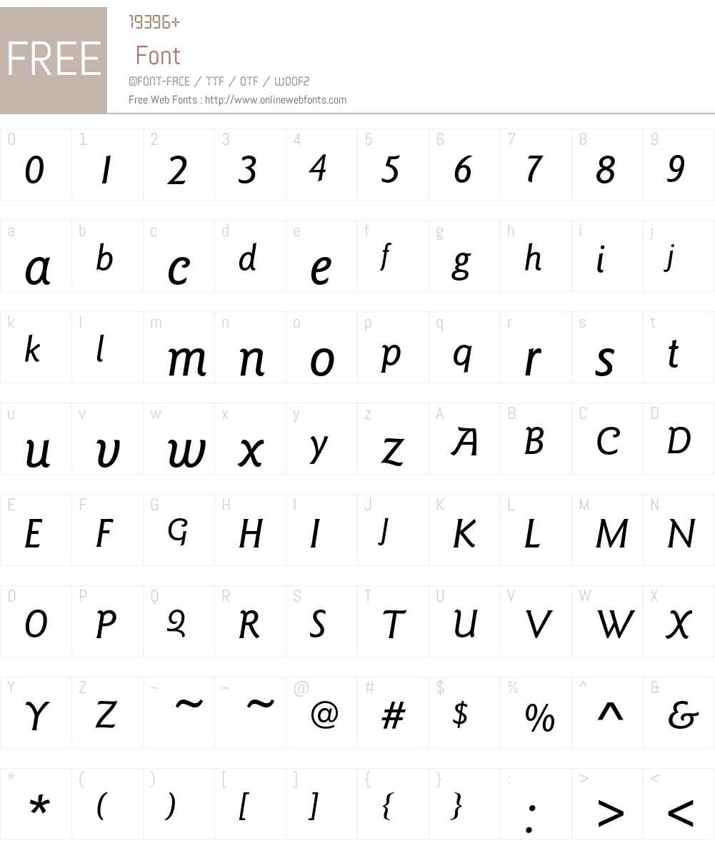 GoudySansEF Font Screenshots