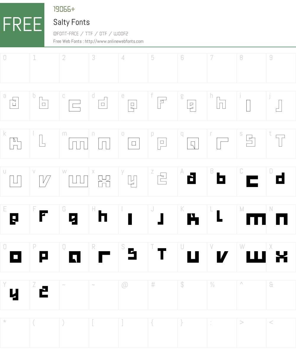 Salty Font Screenshots