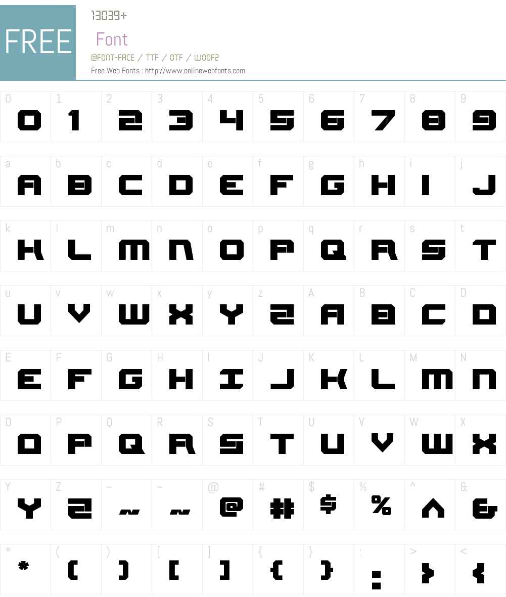 Gearhead Font Screenshots