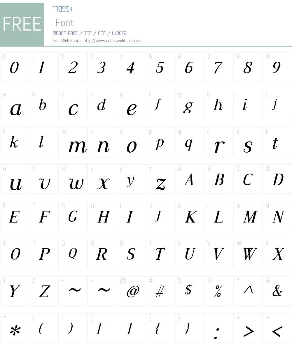 Dustismo Roman Font Screenshots