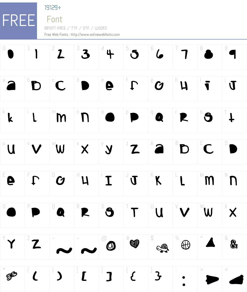 Boing Font Screenshots