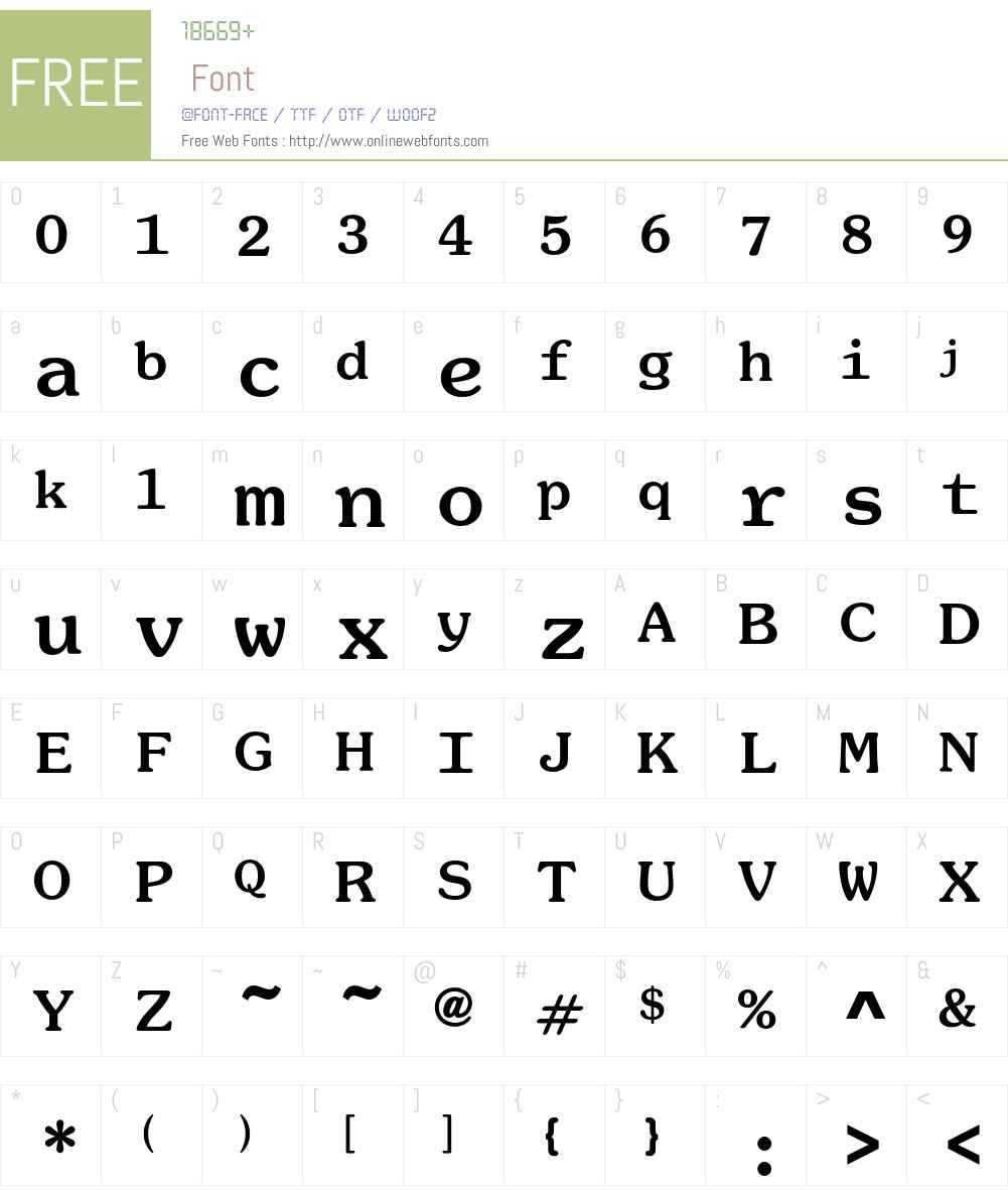 SouvenirMonoEF Font Screenshots