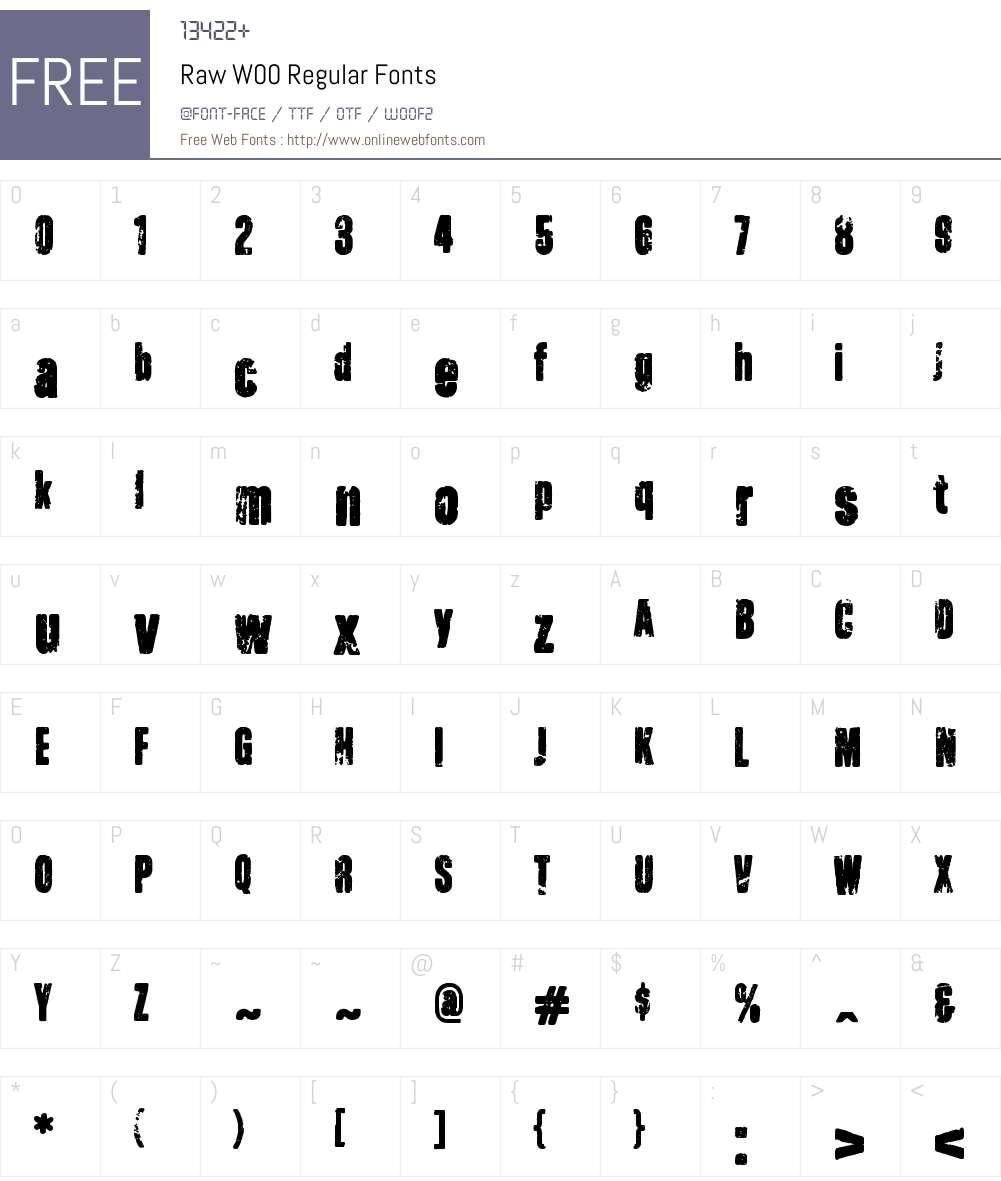 Raw Font Screenshots