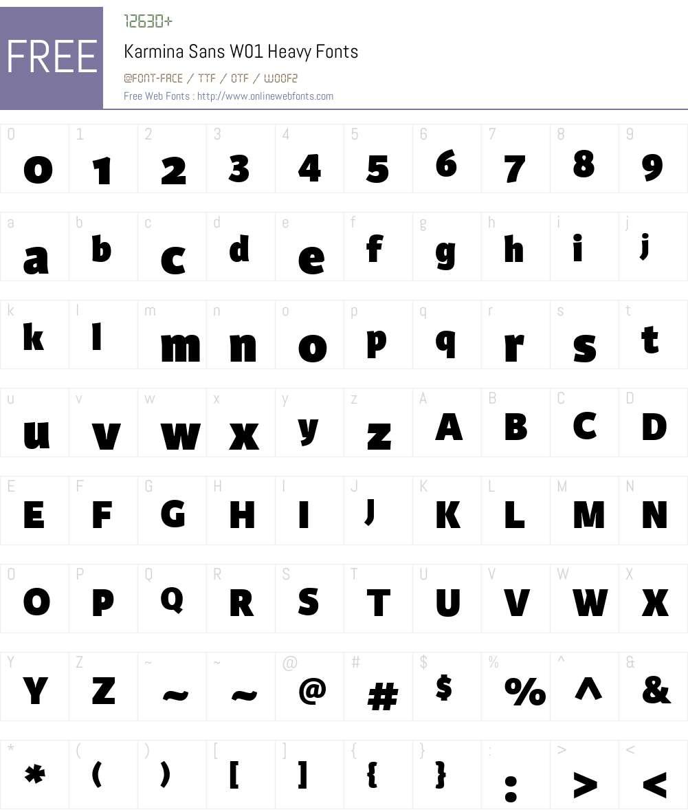 KarminaSansW01-Heavy Font Screenshots