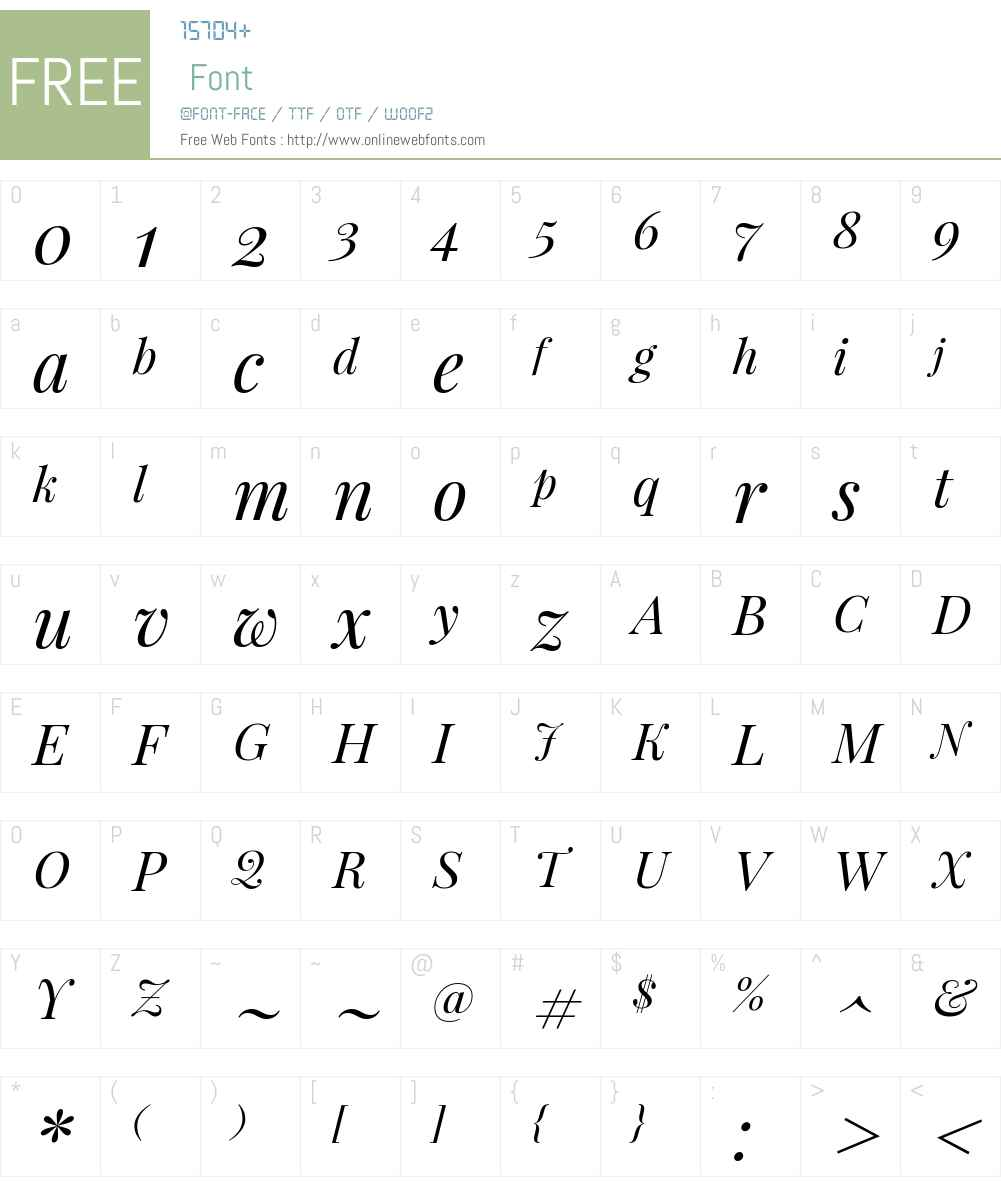 Playfair Display Font Screenshots