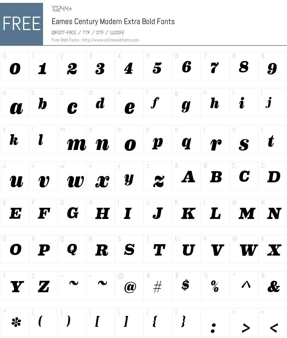 Eames Century Modern Extra Bold Font Screenshots