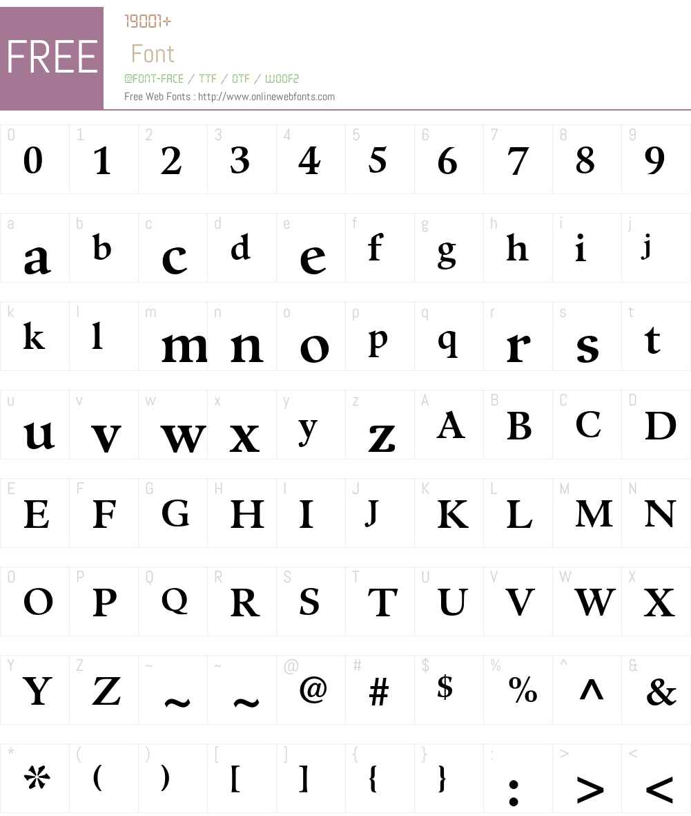 Guardi Font Screenshots