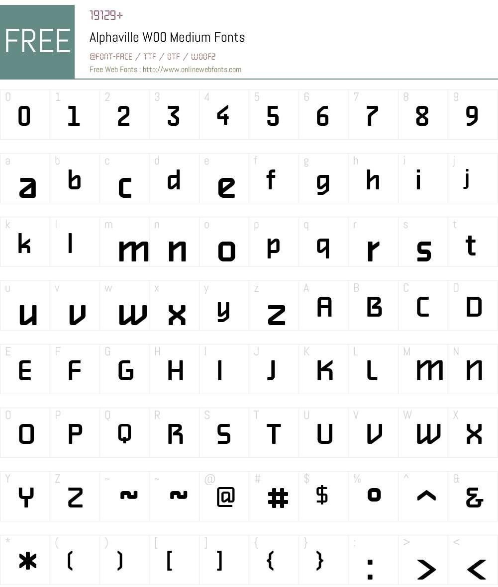 AlphavilleW00-Medium Font Screenshots