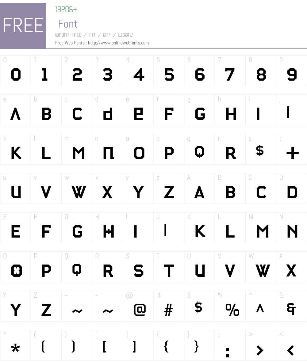 StateMachineW00-Bold Font Screenshots