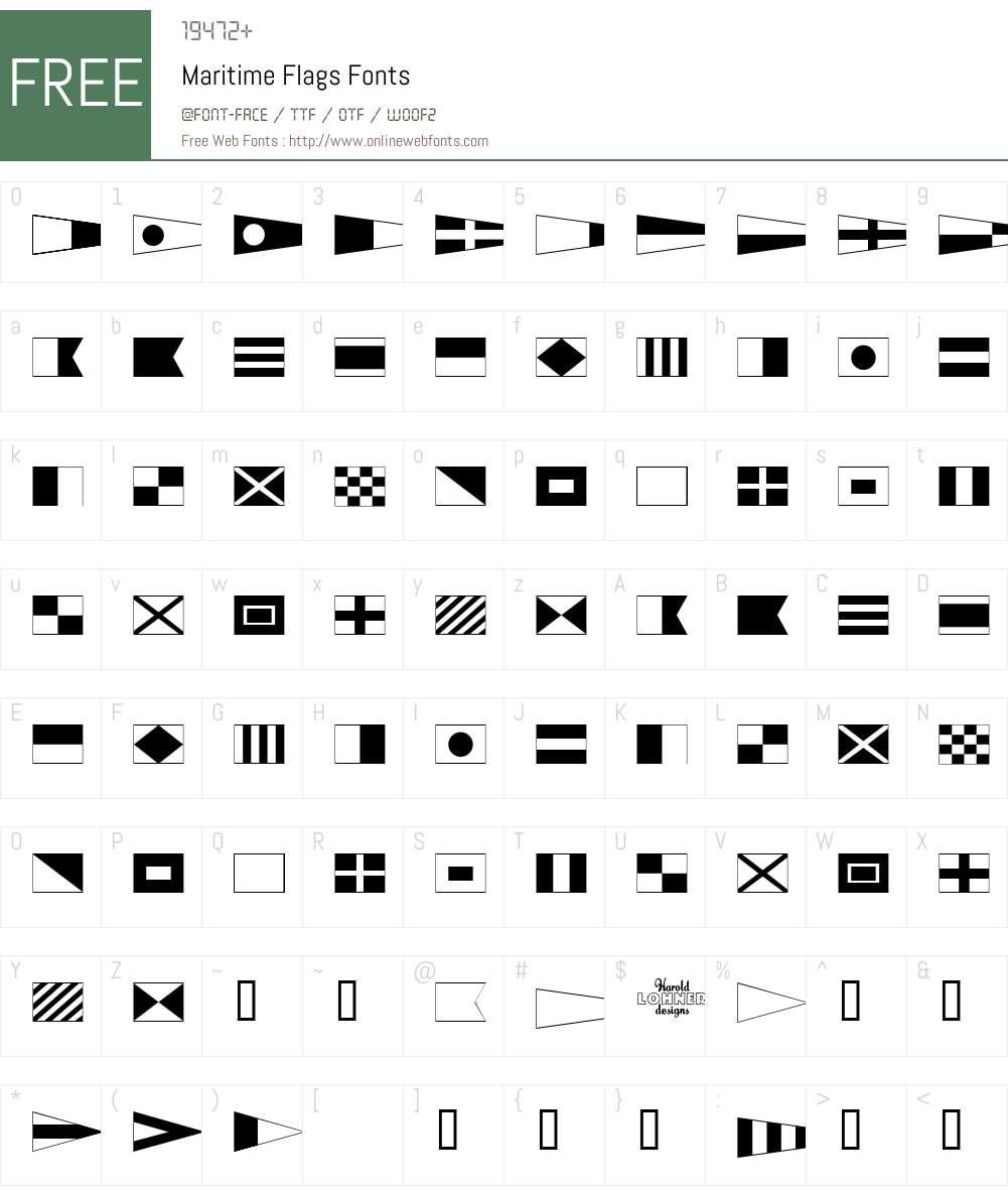 Maritime Flags Font Screenshots