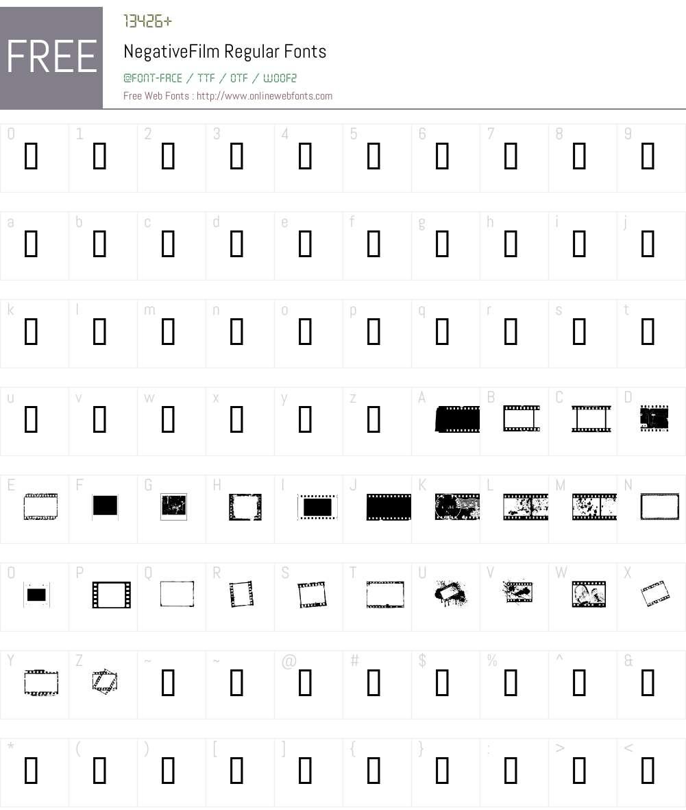 NegativeFilm Font Screenshots