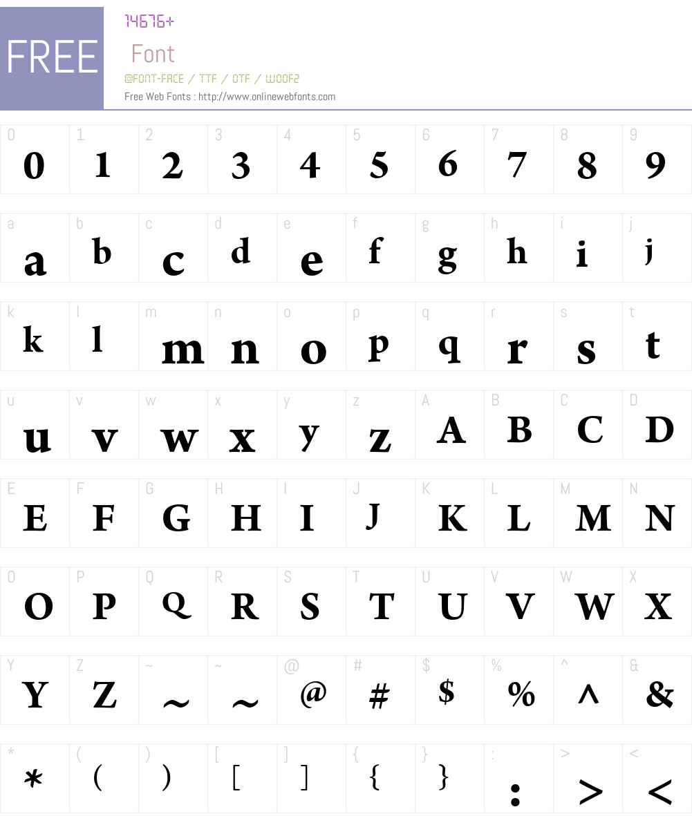 ArnoW01-Bd Font Screenshots