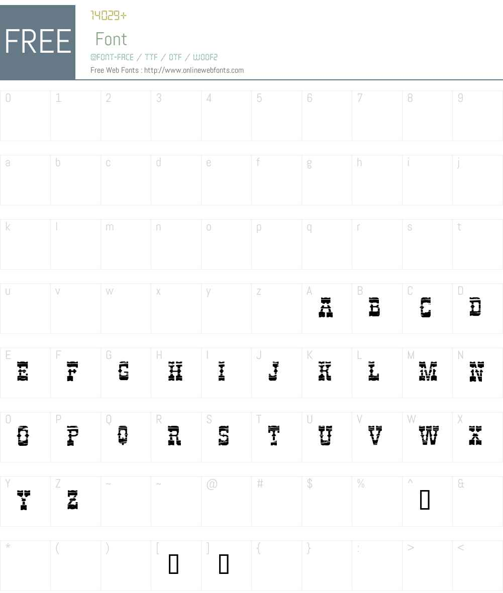 Perdido Demo Font Screenshots