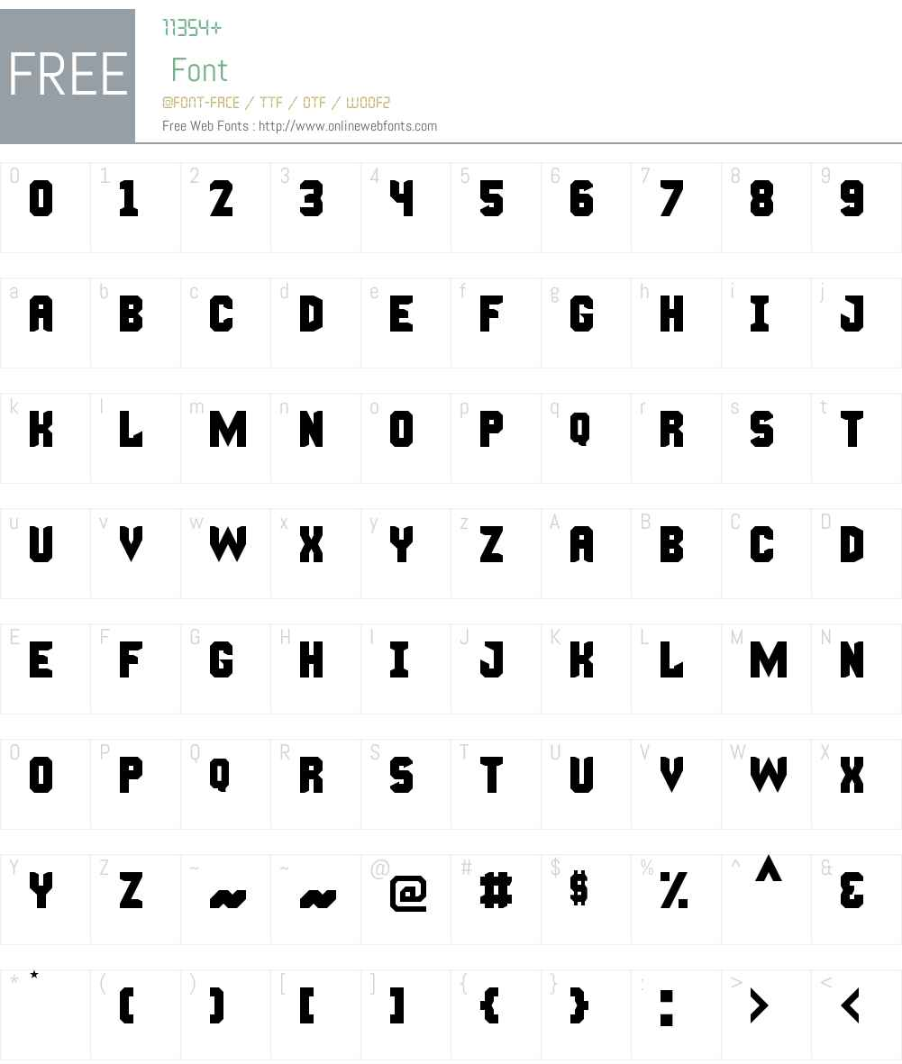 Manly Man Font Font Screenshots